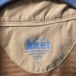 REI Shirts - Vintage REI hiking shirt. Men's Large. Brown
